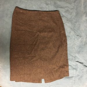 Banana Republic brown textured pencil skirt